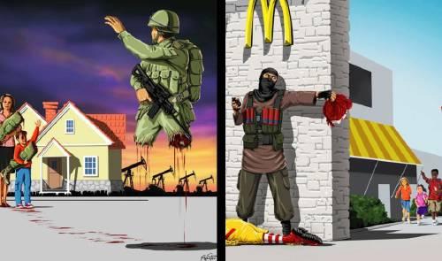 16+ ilustraciones que nos muestran la perversión y lo desgarrante que son la ..