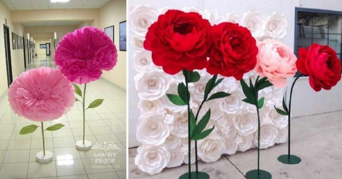 Aprende a crear estas gigantescas y hermosas flores de papel