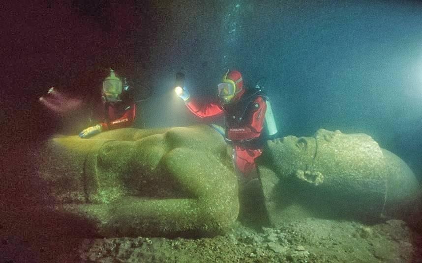 Heracleion: la ciudad egipcia que fue tragada por el mar