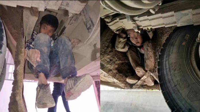 Niños viajan escondidos debajo de un autobús - la razón esta conmoviendo al..