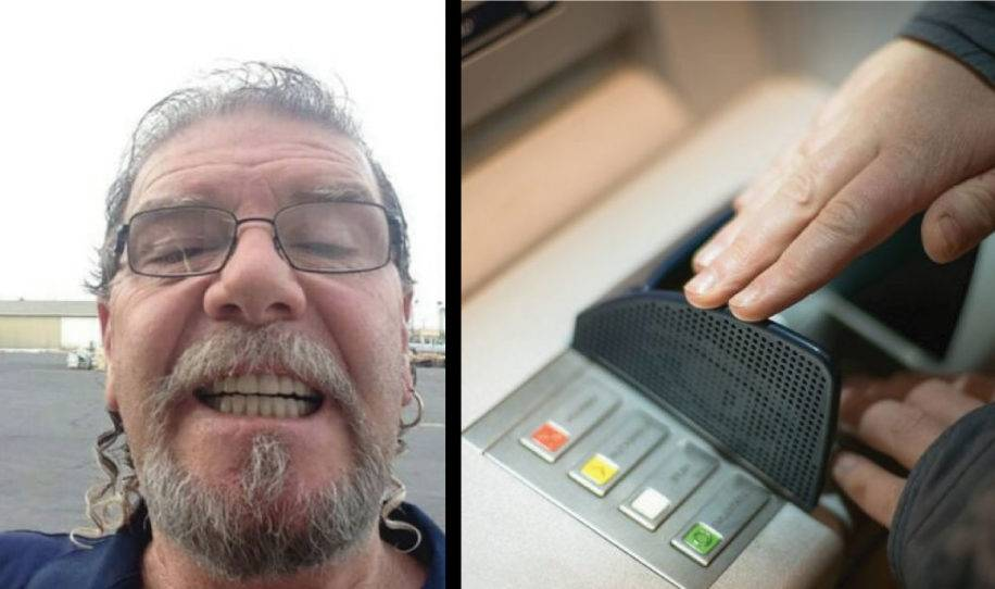 Cuando fue a sacar dinero del cajero sintió algo raro en la mano y entra asus..