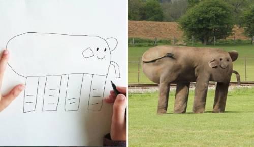 Este padre transformó los dibujos de su hijo de 6 años a realidad - ¡son at..