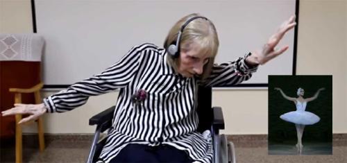 """Video y emoción: la reacción de una bailarina con Alzheimer al escuchar """"El lago"""
