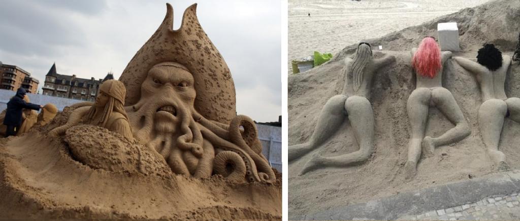 13+ obras de arte hechas con arena en la playa ¡vale la pena verlas!