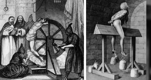 11+ torturas crueles que la iglesia usaba con mujeres y homosexuales