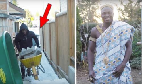 ¡asombroso este es el rey de áfrica pero trabaja como obrero en canadá!