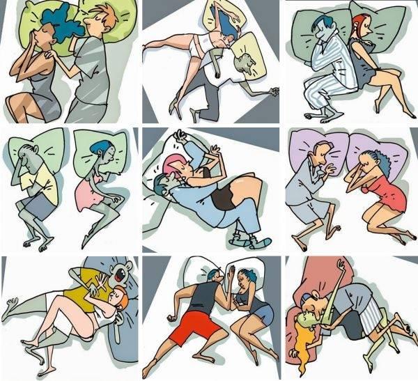La pareja y el significado de las posiciones en las que duermen