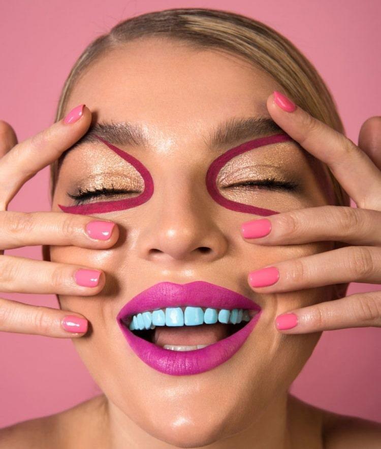 Crean esmalte de color para pintar tus dientes