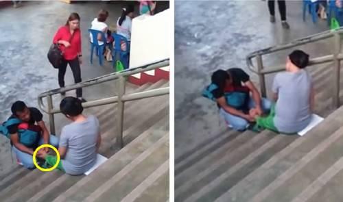 La acción de este hombre con su esposa embarazada sorprendió a todos