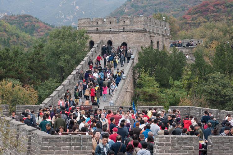 Muralla china llena de turistas