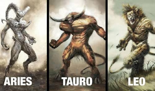 Estos extraños monstruos pueden erizar tu piel y representan los signos zodia..