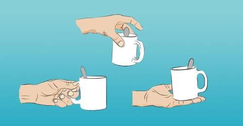 Dime cómo sujetas la taza y te diré qué clase de persona eres