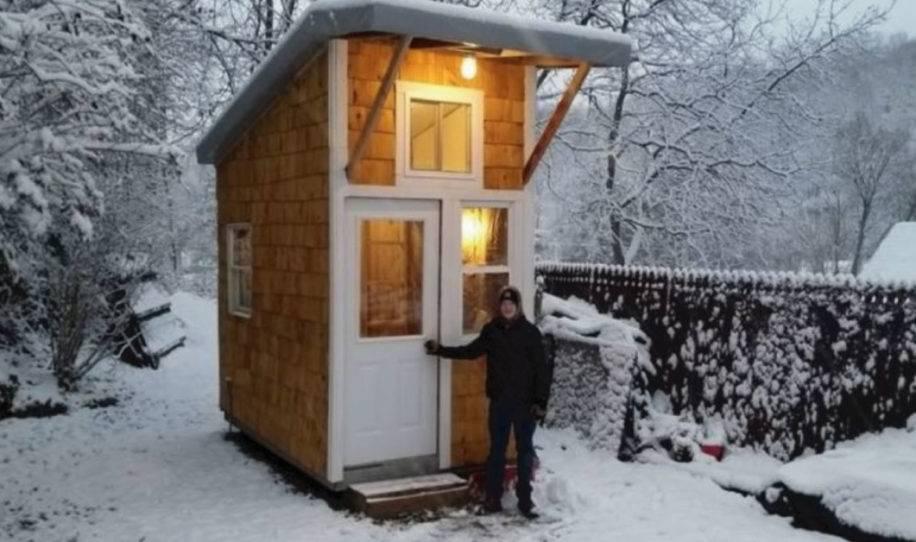 Tiene 13 años y construyó su propia casa de tan solo 9m2, ¡luce increíble!