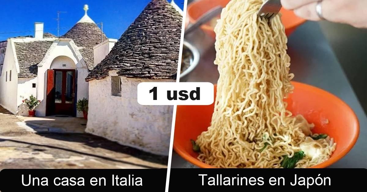 10+ cosas que podrías comprar con tan solo 1 dólar en diferentes países
