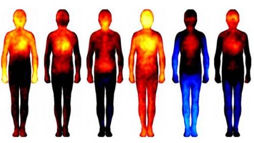 La temperatura del cuerpo varía según las emociones