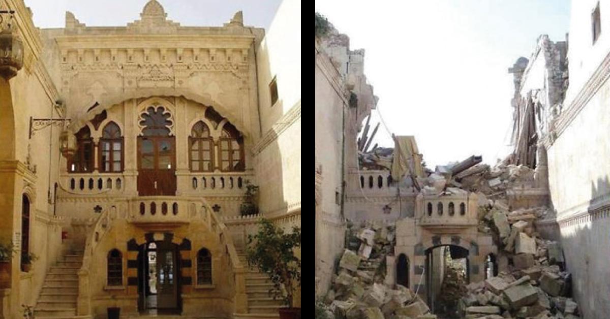 14+ fotos del antes y después de la guerra en siria. ¡realmente impactante!