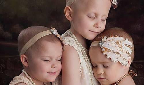 Foto de 3 niñas con cáncer se hizo viral, 3 años después recrean la misma ..