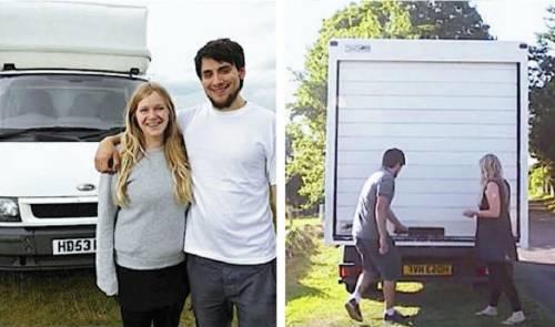 Pareja vende todo y se mudan a un camión, al mostrar el interior todos se sor..