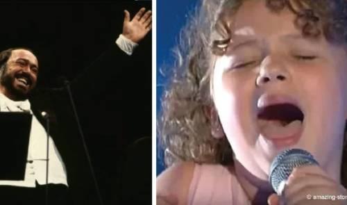 La nieta de pavarotti subió al escenario e hizo que toda la gente se levantara