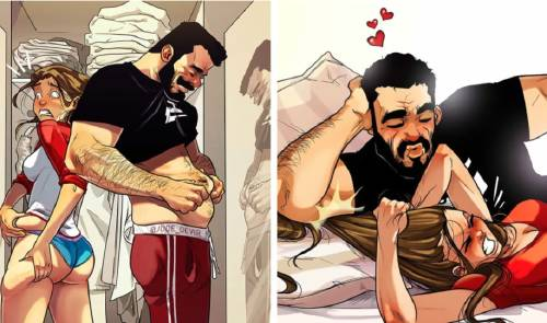 La vida en pareja es retratada en divertidos comics por este artista ¿así es..