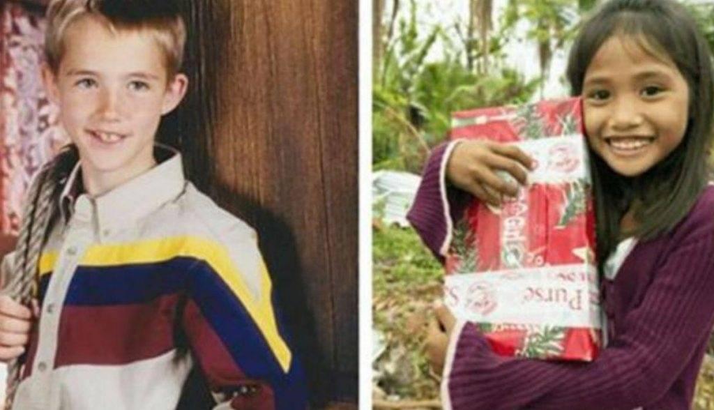Un niño americano envió un regalo a niña filipina, después de 11 años un ..