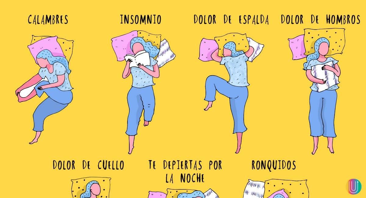 5+ posiciones para resolver tus problemas de sueño