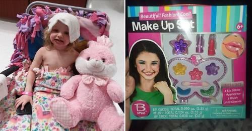 Los riesgos del maquillaje de juguete: esta niña terminó en el hospital