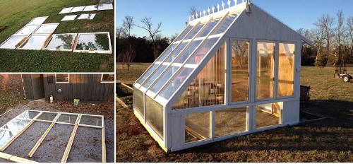 Construyó una casa utilizando ventanas viejas y este fue el magnífico result..