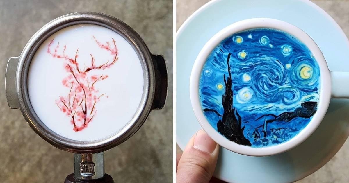 24+ fotografías de arte en café - no vas a querer ni tomártelo
