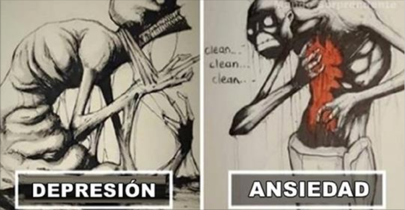 10+ impactantes ilustraciones que retratan las enfermedades mentales