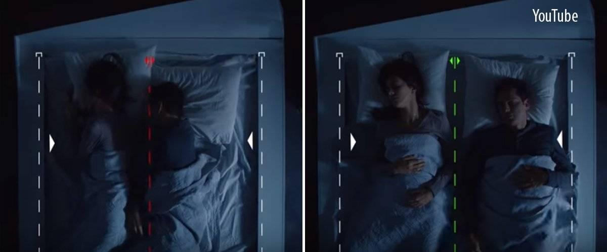 """Esta cama """"inteligente"""" pone a tu pareja en su lugar"""