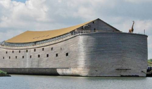 Así luce la réplica del arca de noé que un millonario está construyendo