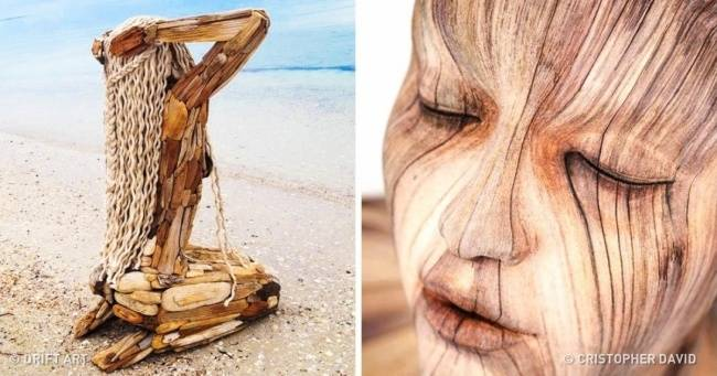 16+ esculturas de madera hiper realistas que te pondrán los pelos de punta