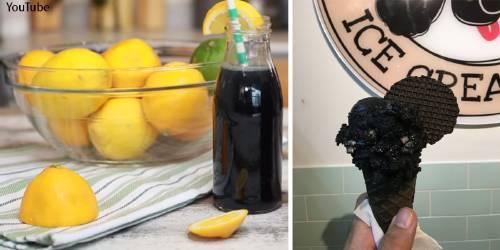 El black detox: la moda de teñir de negro los alimentos