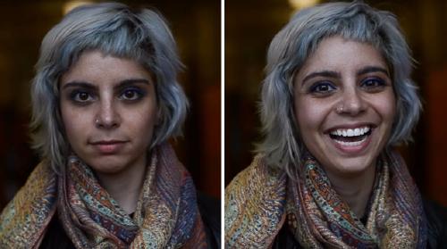 Estudiante captura la reacción de las personas cuando le dice que son hermosas.