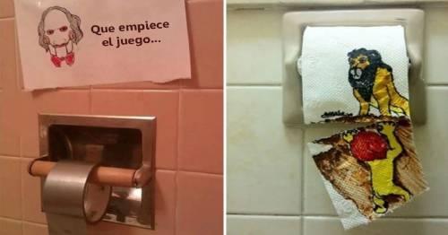 15+ actos de vandalismo en baños para morirte de la risa