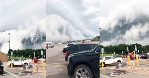 Impresionantes nubes fueron grabadas, parecen ser sacadas de una película de ..
