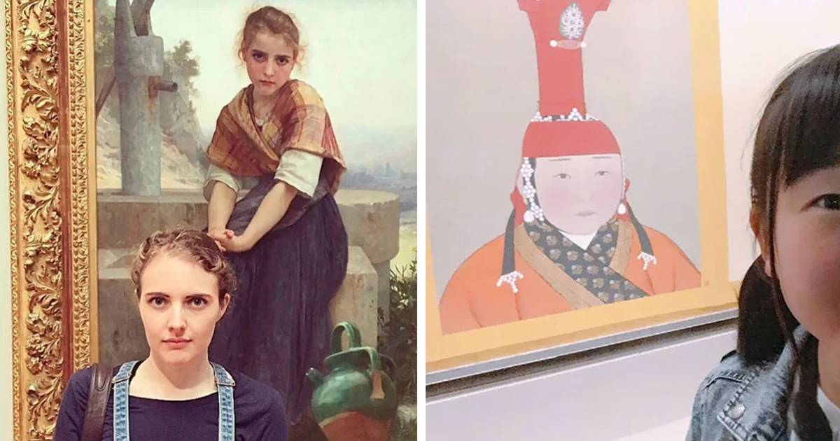 18 personas que se encontraron con su doble en un museo de arte