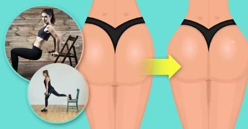 Cómo tonificar tus glúteos y abdomen en casa usando una silla
