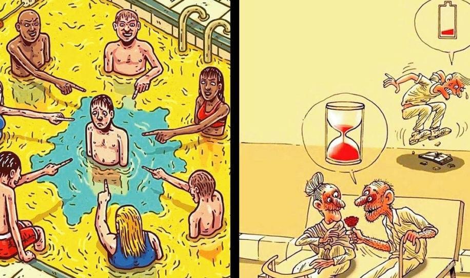 19+ ilustraciones que revelan sin censura lo que sucede en este mundo donde la..