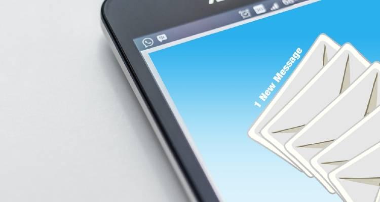 Email en un celular
